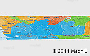 Political Shades Panoramic Map of Bas-Zaire