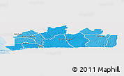 Political Shades Panoramic Map of Bas-Zaire, single color outside