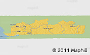 Savanna Style Panoramic Map of Bas-Zaire, single color outside