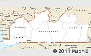 Classic Style Simple Map of Bas-Zaire