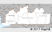 Gray Simple Map of Bas-Zaire
