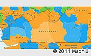 Political Simple Map of Bas-Zaire