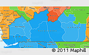Political Shades Simple Map of Bas-Zaire