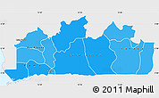 Political Shades Simple Map of Bas-Zaire, single color outside