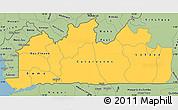 Savanna Style Simple Map of Bas-Zaire