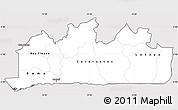 Silver Style Simple Map of Bas-Zaire, cropped outside