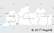 Silver Style Simple Map of Bas-Zaire, single color outside