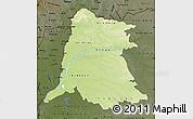 Physical Map of Equateur, darken