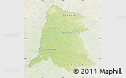 Physical Map of Equateur, lighten
