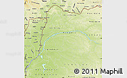 Physical Map of Equateur