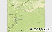 Physical Panoramic Map of Libenge/Zongo