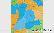Political Shades Map of Sud-Ubangi
