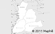 Silver Style Simple Map of Sud-Ubangi