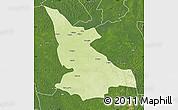 Physical Map of Ikela, satellite outside