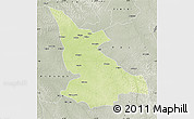 Physical Map of Ikela, semi-desaturated