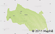 Physical Map of Monkoto, cropped outside