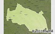 Physical Map of Monkoto, darken