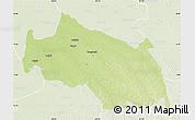 Physical Map of Monkoto, lighten