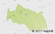 Physical Map of Monkoto, single color outside