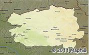 Physical 3D Map of Bas-Uele, darken
