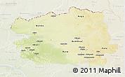 Physical 3D Map of Bas-Uele, lighten