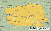 Savanna Style 3D Map of Bas-Uele