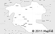 Silver Style Simple Map of Aketi