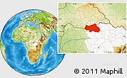 Physical Location Map of Bondo, highlighted grandparent region