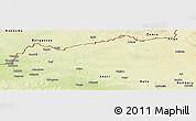 Physical Panoramic Map of Bondo
