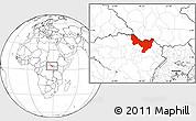 Blank Location Map of Dungu