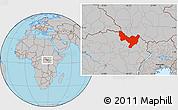 Gray Location Map of Dungu