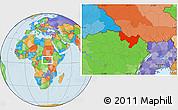 Political Location Map of Dungu