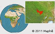 Satellite Location Map of Dungu