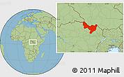 Savanna Style Location Map of Dungu