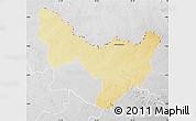 Physical Map of Dungu, lighten, desaturated