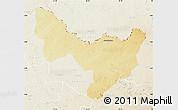 Physical Map of Dungu, lighten