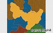 Political Map of Dungu, darken
