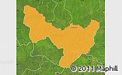 Political Map of Dungu, satellite outside