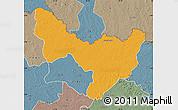 Political Map of Dungu, semi-desaturated