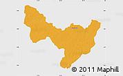 Political Map of Dungu, single color outside