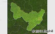 Satellite Map of Dungu, darken