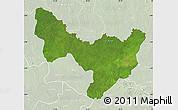 Satellite Map of Dungu, lighten