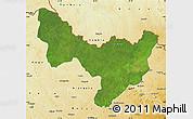 Satellite Map of Dungu, physical outside