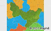 Satellite Map of Dungu, political outside
