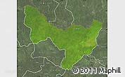 Satellite Map of Dungu, semi-desaturated