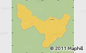 Savanna Style Map of Dungu, single color outside