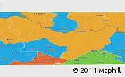 Political Panoramic Map of Dungu