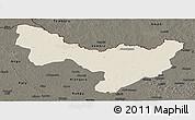 Shaded Relief Panoramic Map of Dungu, darken