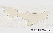 Shaded Relief Panoramic Map of Dungu, lighten
