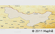 Shaded Relief Panoramic Map of Dungu, physical outside